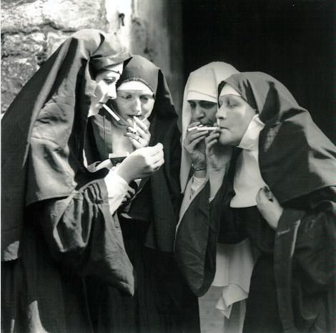 Nuns smoking